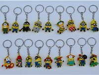 pvc card - Keychain Favors PVC D Despicable Me keychain car pendant small yellow people Card Package Minion key chain doll gift