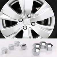Wholesale Plastic Peugeot Citroen Sliver Wheel Screws Caps Wheel Refitting Plastic Screw Covers for Quatre Elysee C4L C5