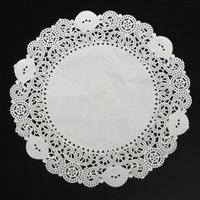 Wholesale 100PCS Paper Lace Doilies Round Cupcake Cake Paper Doily Dish cm White Halloween Chistmas Wedding Party Decorations