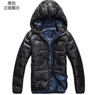 batik pillows - New Winter jacket men s Outerwear Hooded White Duck Down jacket Man Warm Down Coat outdoor high velvet
