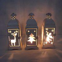 Wholesale Iron Candlestick retro classic home furnishing Moroccan lantern Mediterranean
