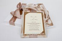 boxed greeting cards - Luxury Royal silk Wedding Invitation card Elegant Floral Romantic Greeting Cards Invitations with box Brooch