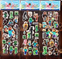 Wholesale Minecraft Cartoon stickers Minecraft toys JJ TNT Stickers creeper Students of stickers Cartoon oppo stickers Minecraft gift x7cm ups free