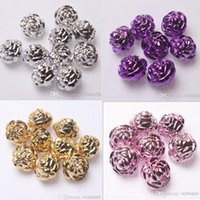 flower beads - Mixed mm Silver UV Coated Rose Flower Beads Brand New