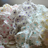 babies decor daisies - 3 Yard colorful Cute Daisy Floral Embroidered Lace trim diy sewing accessories crafts baby scrapbooking dolls decor