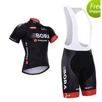 bicycle wear - Hot sales Bora cycling jerseys black bicycle wear bicycle jersey short sleeves bib none bib cycling jerseys size XS XL