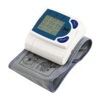 Wholesale 2015 Home Automatic Wrist digital lcd blood pressure monitor portable Tonometer Meter for blood pressure meter oximetro de dedo T0013