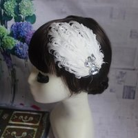 unique hair accessories - 2015 White Elegant Wedding Bridal Hair Accesories Feather Crystal Applique Prom Occasion Made In China Unique Wedding Hair Accessories WX