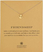 Wholesale Dogeared Necklace with boat anchor friendship noble and delicate no fade and high quality