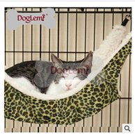 Wholesale FreeShipping Leopard Printed Fashion Cat Hammock Wild Time Cat Ferret Cage Synthetic Lamb s Wool Hammock Fashion Cat Beds C747