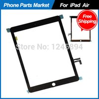 Cheap For iPad Air iPad 5 Black Touch Screen Glass Digitizer Replacement +Openning Tools, DHL Free Shipping