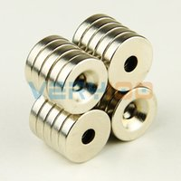 Wholesale 20pcs mm x3mm Hole mm Super Strong Rare Earth Neo Neodymium Disc Magnets N35 order lt no track
