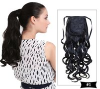 Wholesale Curly Wave Wrap Around Ponytail Extension for Woman Synthetic Hair g