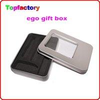 aluminium gift boxes - Silver Metal Case E Cigarette Gift box for eGo CE4 CE5 CE6 Series Aluminium Case Suit for mAh Battery DHL