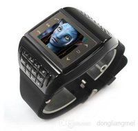 Wholesale 1pc Avatar ET Single Sim Card Watch Cell Phone Ebook Reader FM MP3 MP4 Quad Band Unlocked Mobile Phone W01