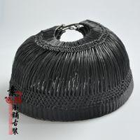 beijing opera costumes - Woman role of chinese opera hair accessory black gauze Peking opera cap Beijing opera head wear