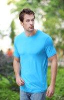 bamboo t-shirt - Bamboo fiber T shirts for men new men s solid color T shirt color optional