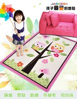 american girl games - Child girl Owl Tree Trunk homes butterfly beige pink game carpet Nylon carpet size cmx142cm Factory direct sale