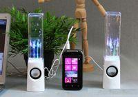 Dancing Water Speaker Active Portable Mini USB LED Light Speaker pour l'iphone ipad PC MP3 MP4 PSP DHL libre LY