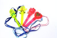 Wholesale The new children s toys cartoon flash light stick with a whistle to spread the supply of Hot