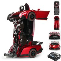Wholesale Red Remote Control Children Gift Transforming Toys Car Deform Robort