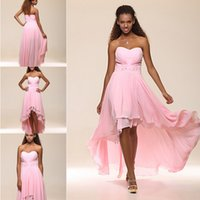 asymmetrical cocktail dress - Asymmetrical High Low Sweetheart Chiffon Prom Dresses Crystal Organza Cocktail Dress with Removable Train wedding Evening Party Gowns