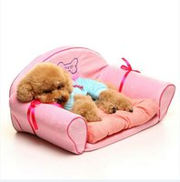Wholesale 01 Lovable Dog Pet Product Plush Bed Dog Cushion Dog Bed Cat Bed Sofa Princess Warm Fashion pc