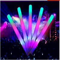 Wholesale Led Foam Sticks Flashing Foam Stick Light Cheering Glow Foam Stick Luminous Sticks Festivals Christmas Carnival Concerts LED Cheer Props new