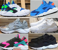 Wholesale Drop shipping women and men Classic Black White Air Huarache Running Shoes Sneaker Breathable Huaraches Size US5