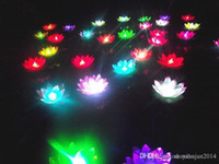 Wholesale 19 CM LED Flying lantern wishing lanterns Chinese Floating Garden Water Pond Artificial lotus flower lamp Wishing Christmas Party Lamp