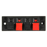 amp push - Brand New Way AMP Stereo Speaker Terminal Plate Strip Push Release Connector Block order lt no tracking