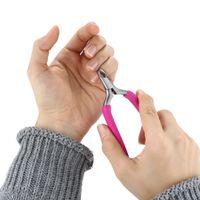 Wholesale Stainless Steel Nipper Manicure Trimmer Toe Cuticle Plier Scissors Nail Art Nipper Clipper Manicure Plier Scissors Random Color
