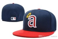 anaheim angels hat - MLB Anaheim Angels Baseball Cap D Embroidery Logo Cooperstown Fitted Hats Adult Fit Cap