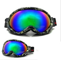 ski goggles glasses - Men And Women Anti Fog Ski Goggles Windproof Cocker Myopia Snow Spherical Double Lens Sports Mountaineering Glasses