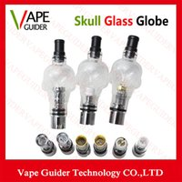 Wholesale Skull Glass Globe Atomizer E Cig Atomizer Kinds Color With Replaceable Coil Glass Material Skull Glass Globe Atomizer vg007