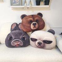 bear chair - New Home Decor D Printed Animal Bear Pillows Animal Shape Creative Pillow Cover Chair Pillow Car Sofa Cushion Cover