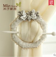 Wholesale Black Friday Miz Home Set Cute Angel Baby Window Curtain Tieback Buckle Europe Hook Decoration New Arrival Hot