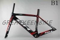 bh - 2015 Newest BH Carbon Fiber Frames UD Wave Black Red Decals Accept Customize G6 Road Bike Frameset Including Fork Clamp Seatpost BSA BB30