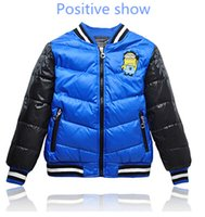 Wholesale The New Foreign Trade Local Tyrants Gold Cartoon Color Matching Children Down Jacket Boy Down Jacket Children s Wear