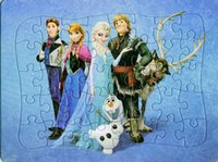 Wholesale 2015 Frozen paper cartoon children s educational toys jigsaw puzzle four kinds of patterns DHL