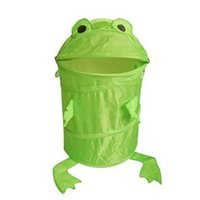 Wholesale Animal Frog Pop Up Storage Clothes Laundry Foldable Basket Bin Hamper Storage B2C Shop