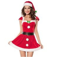 Wholesale 2015 New Product sexy red color women christmas elf fancy dress Christmas Costumes
