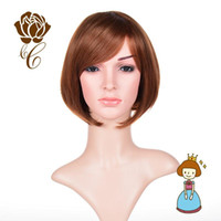 Cheap Synthetic Wigs Front Full Lace Wig Short Brown Cosplay Wigs Short Straight for Students Cheap Price 2015 Best Seller