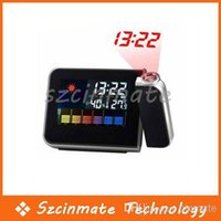 Cheap Digital LCD LED Projector Alarm Clock Weather Station Wholesale