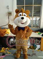 al por mayor traje de la mascota del oso yogui-La mascota del oso del abucheo de la venta al por mayor-Boo traje el vestido de lujo de los caracteres del oso de la yogui para la Navidad