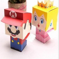 Cheap 200pcs 100 pair Cartoon Candy Boxes For Children's Day Party Birthday Wedding Christams Candy Box Favors Box Free Shipping