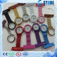 nurse gifts - Metal Clip Nurse Pocket Watch Quartz Fob Watches Color Painted Cheap Gifts Watches wu