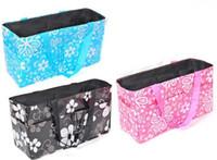 Wholesale 3 Colors Newborn Baby Folding Diaper Bag Non Woven Storage Nappy Bag Fashion Print Nursing Bottle Mummy Bag