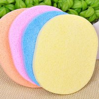 Wholesale Magic Face Cleaning Wash Pad Puff Seaweed Cosmetic Puff Cleaning Facial Flutter Wash Face Sponge Makeup Tools PE0024 salebags
