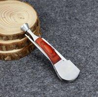 Wholesale 50pcs Multi function Red Wood Smoking Tool Multifunction Stainless Steel Smoking Knife Smoking Pipe Cleaner Wood Pipe Cleaning Tool